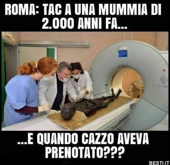 Tac a una mummia