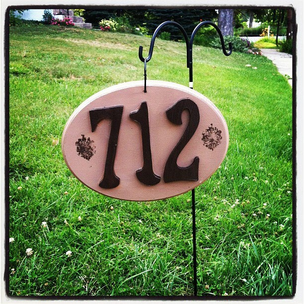 Homemade House Number Sign For Our Yard!