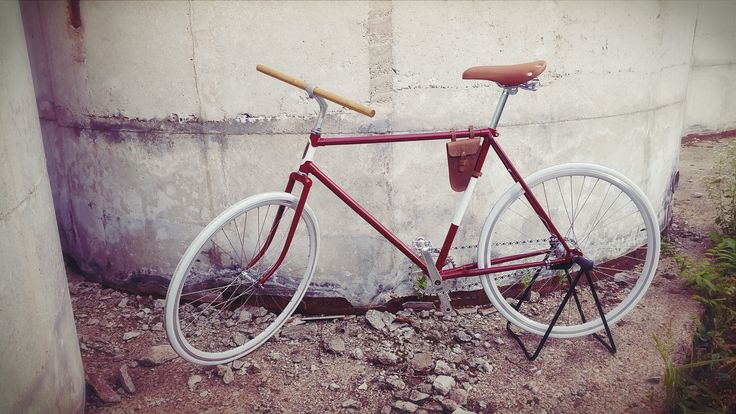 """""""Red Russian""""  Custom Handmade bicycle  Manufacure Your New Old Cycle  info:  yournewoldcycle@gmail.com  Price: 1190 EUR"""