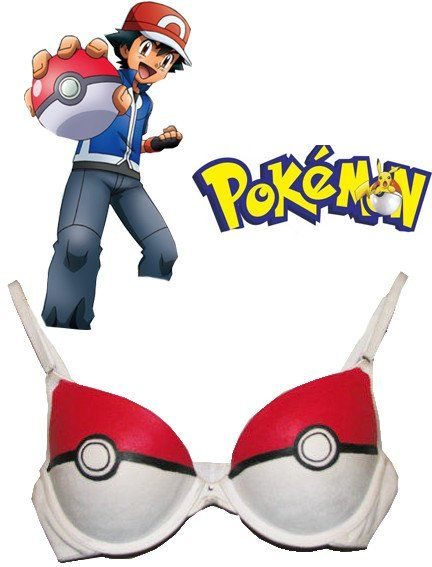 Pokemon Pokeball Bra Lingerie Ash Ketchum