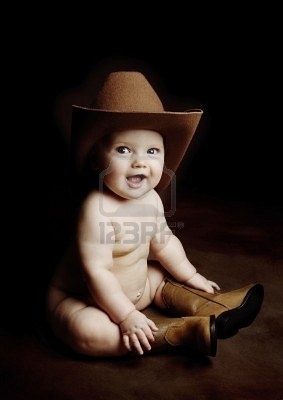 Cowboy BABY. Cowboy hat? Darn, if only there was a cowboy baby hat.