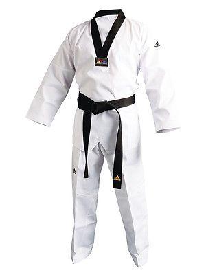 Uniforms and Gis 179774: New Adidas Adi-Club Taekwondo Uniform Tkd Dobok W White, Black V Neck -> BUY IT NOW ONLY: $58.11 on eBay!