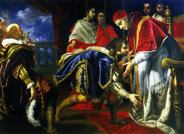 Giovanni Biliverti, The Meeting Between Francis I and Pope Leo X in The Palazzo Publico, Bologna, December 11, 1515, 17th century
