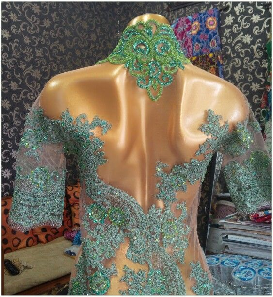 Light green lace - back
