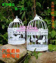 Мода утюг клетка украшения цветок оформление окон старинные висит декоративные птичьи клетки птичья клетка(China (Mainland))