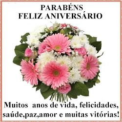Parabéns, Feliz Aniversário!!! Muitos anos de vida, felicidades, saúde, paz e amor