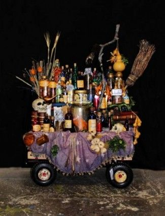 "Grandma's Potion Cart, ""The Addams Family"""