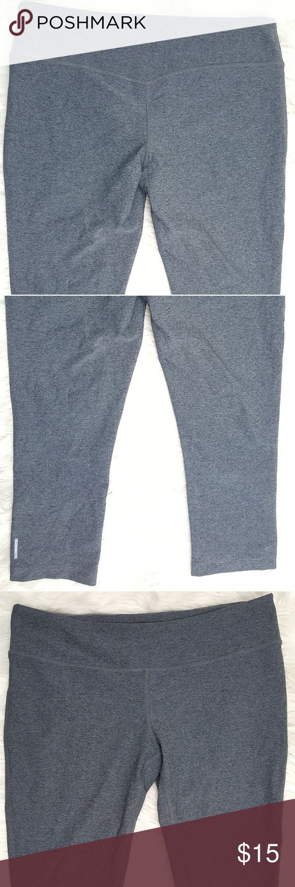 Mondetta Women's Solid Gray Athletic Capris XL Mondetta women's solid Gray athletic cropped capris.  Size XL.  Gently used, no flaws.  Inseam 22 1/2 inches  Rise 10 inches  Waist laying flat 18 inches Mondetta Pants Ankle & Cropped