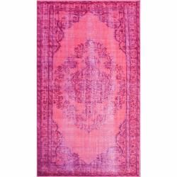 Overdyed Fuschia Rug (5' x 8') | Overstock.com Shopping - The Best Deals on 5x8 - 6x9 Rugs