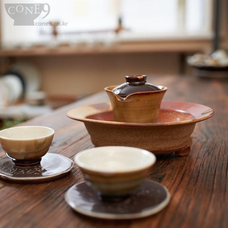 'Gaiwan' - teaware / by Seong-il Hong, Korea / Apr. 2015 / #콘나인 #cone9 #핸드메이드도자기 #pottery #tea #teaware #Nosanclaystudio #노산도방 #개완