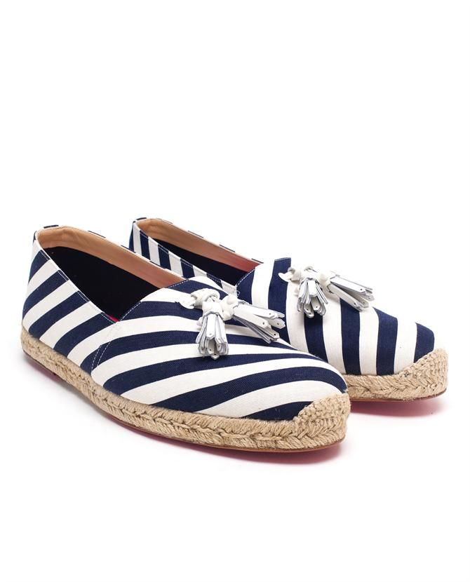 CHRISTIAN LOUBOUTIN | Striped Espadrilles