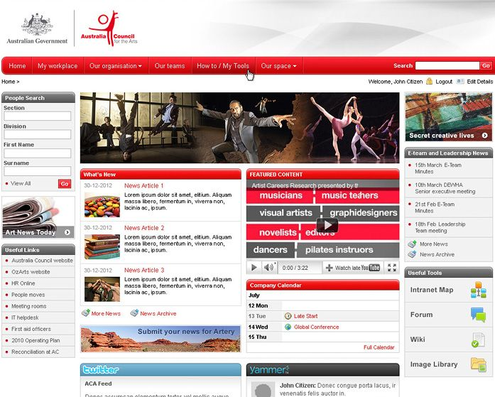 intranet dashboard intranet design portfolio intranet software