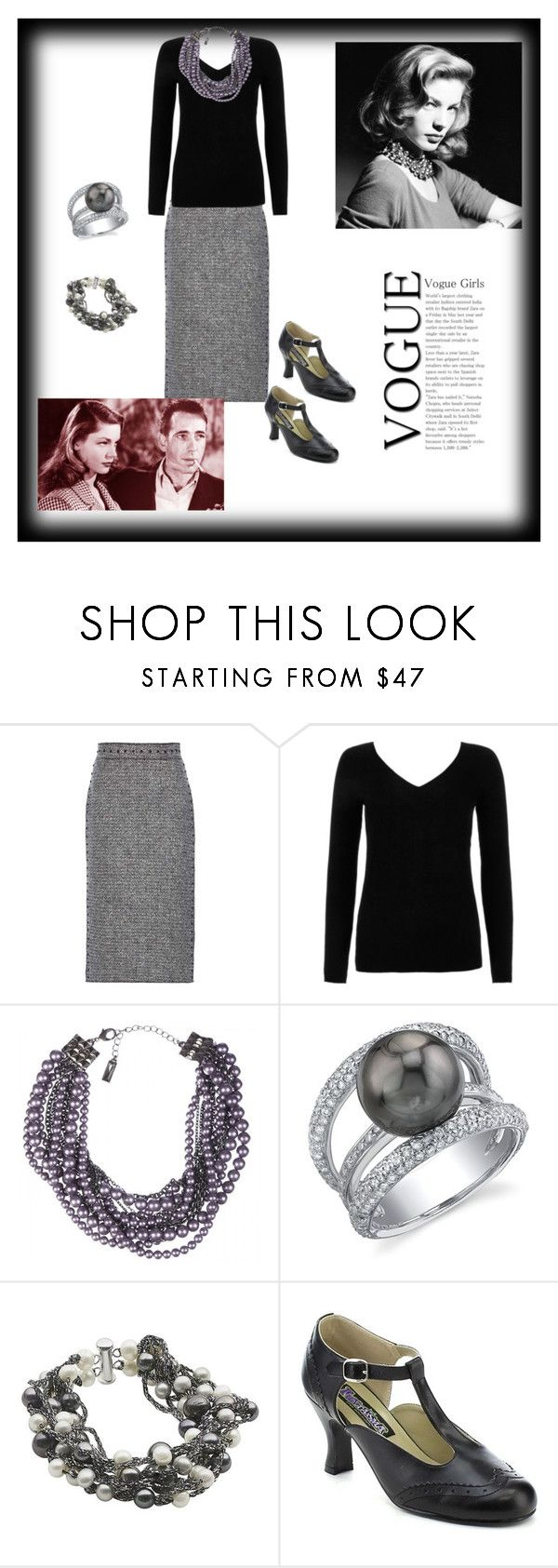 """BACALL AND BOGART"" by destinystarheaven ❤ liked on Polyvore featuring Valentino, River Island, Lia Sophia and Funtasma"