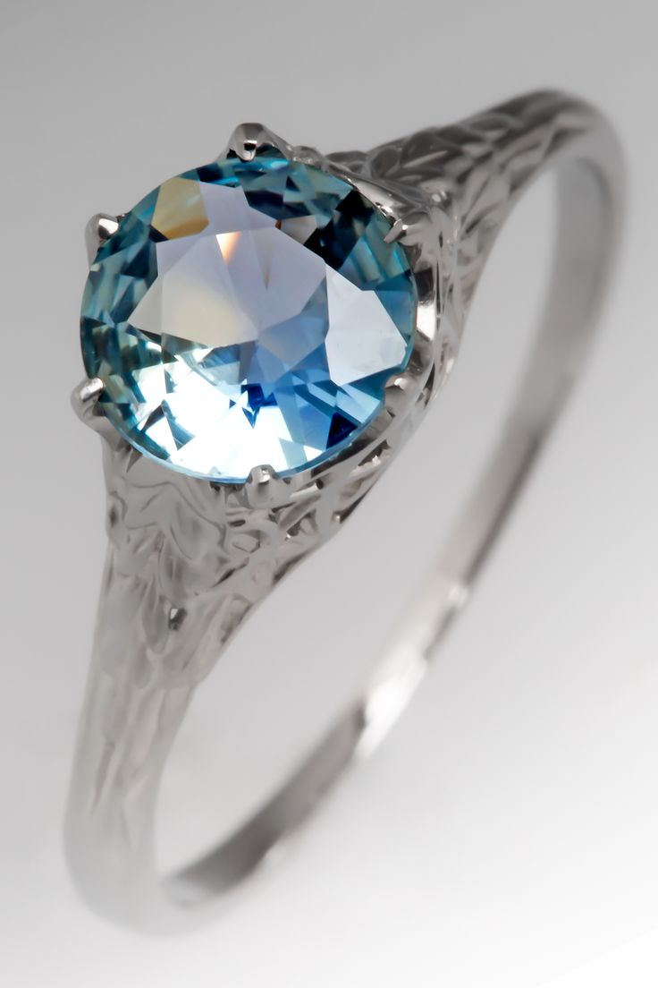 Brilliant blue-green Montana sapphire ring