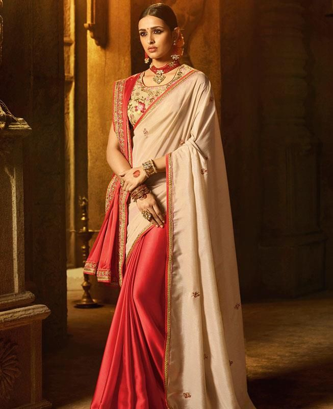 b8bbab00f1 Pin by Santosh Ojha on rrr | Party wear sarees, Saree, Traditional silk  saree