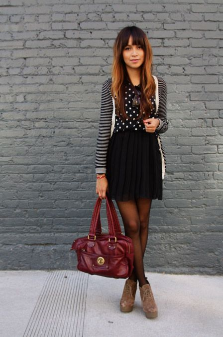 Mixing Classic Prints: Polka Dots and Stripes