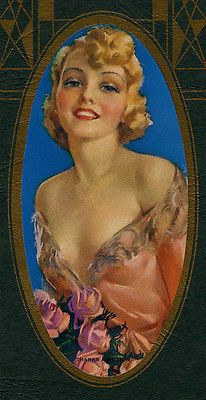Vintage-1938-Jules-Erbit-Sultry-Buxom-Beauty-Pin-Up-Calendar-Thanks-a-Million-NR