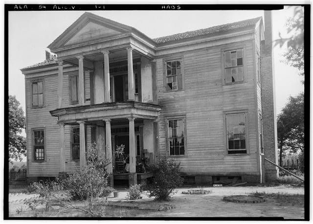 Dr. William Hughes House & Outbuildings, Hughes Creek vicinity, Aliceville, Pickens County, AL