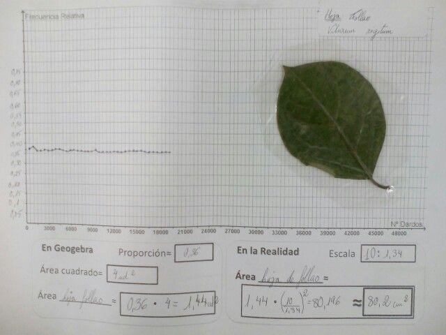 Viendo como se estabiliza la proporción(frecuencia relativa) en los dardos aleatorios de la hoja de follao
