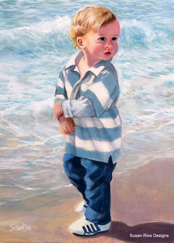 """I call this painting """"Blonde at the Beach"""""""