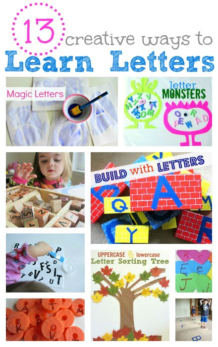 13 creative ways to learn letters!