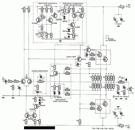 audio amplifier mosfet hifi 240w buz23