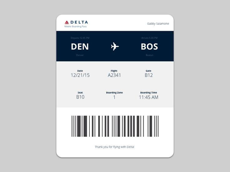 Daily UI #024 : Boarding Pass