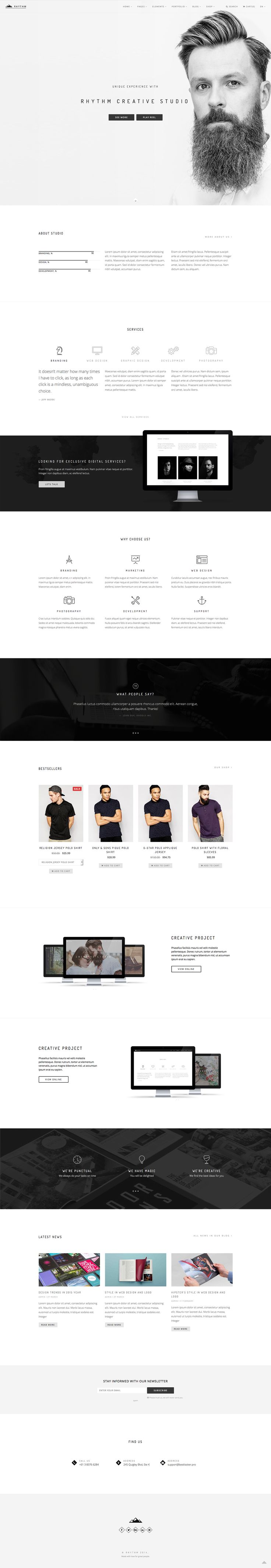 Rhythm - Drupal Theme by NikaDevs on Behance