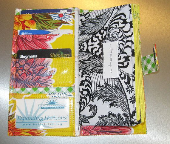 pattern for an oilcloth, cash envelope system wallet - great deal!