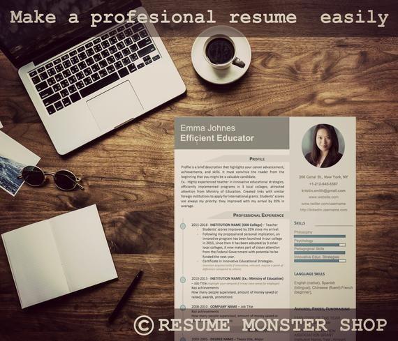 Resume Template Cv Template Resume Curriculum Vitae Teacher