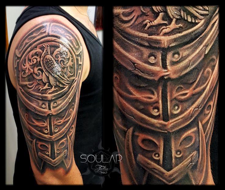 armour tattoo by Matt Parkin @ Soular Tattoo