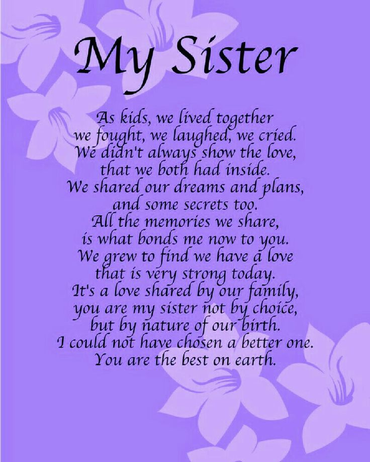 25+ best Sister birthday quotes on Pinterest | Sister ... To My Big Sister Quotes