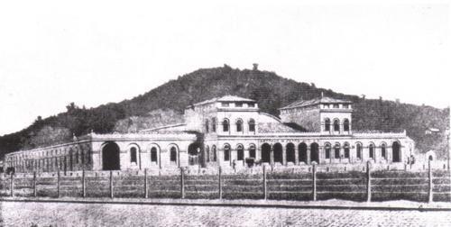 estação Central do Brasil (RJ) em um dos seus estágios mais antigos.
