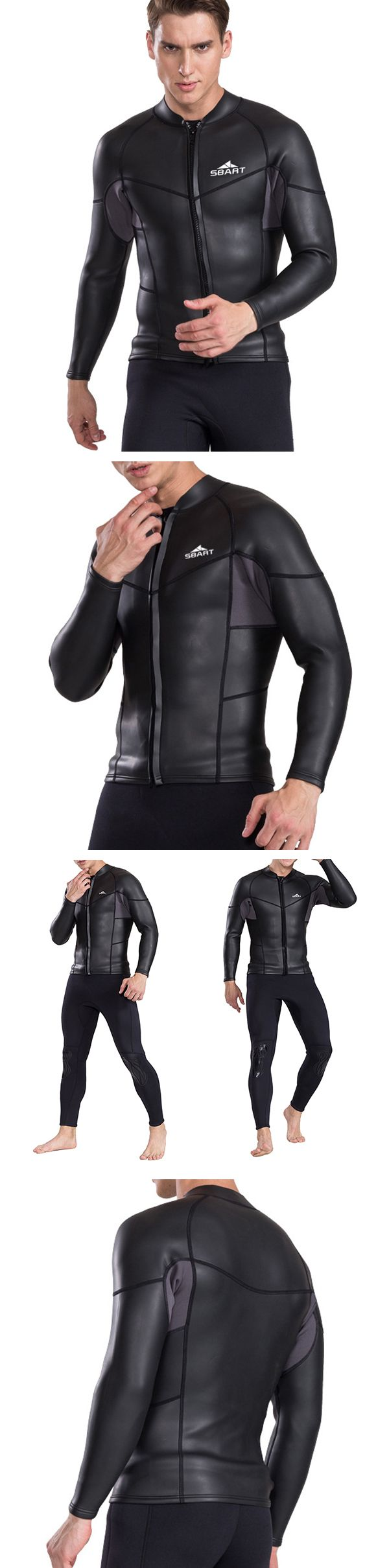 US$42.66 (50% OFF) Black Quickly Dry Thermal Diving Surf Jellyfish Suit for Men
