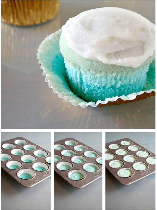 Blue Ombre Cupcakes Tutorial http://thecakebar.tumblr.com/post/37417060391/blue-ombre-cupcake-tutorial