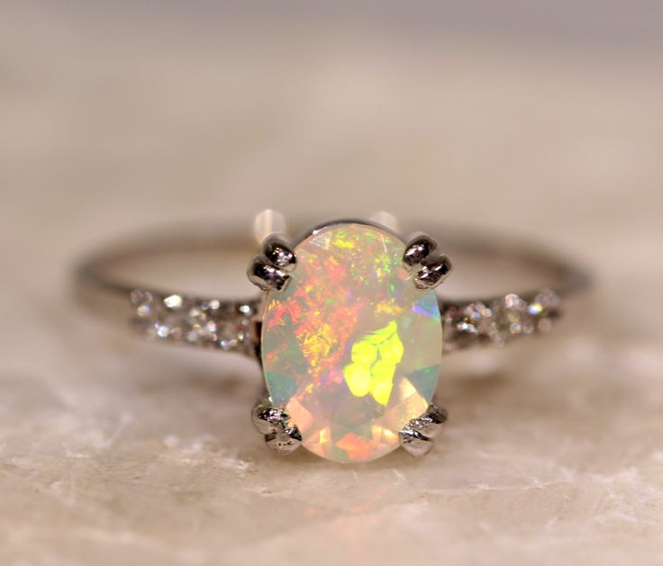 Pictures Of Opal Rings