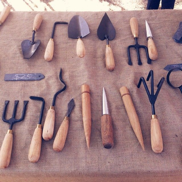 Come see James at the Warrandyte festival all day today! There are lots of goodies to snap up. Pictured: assorted small #tools, $25 each at the festival. #australiangarden #gardentools #handmade