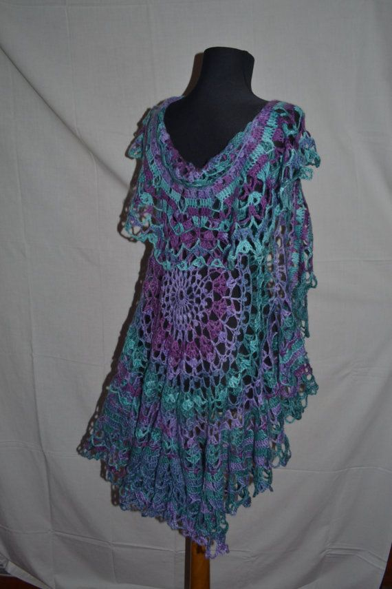 Hey, I found this really awesome Etsy listing at https://www.etsy.com/listing/221488160/openwork-knit-poncho-scarf-cardigan