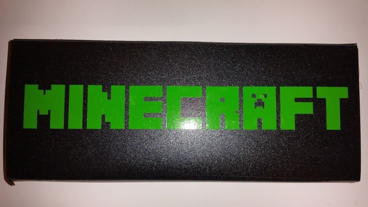 PERSONALIZED MINECRAFT PENCIL CASE! HARD BLACK CASE WITH YOUR NAME! #Wexford