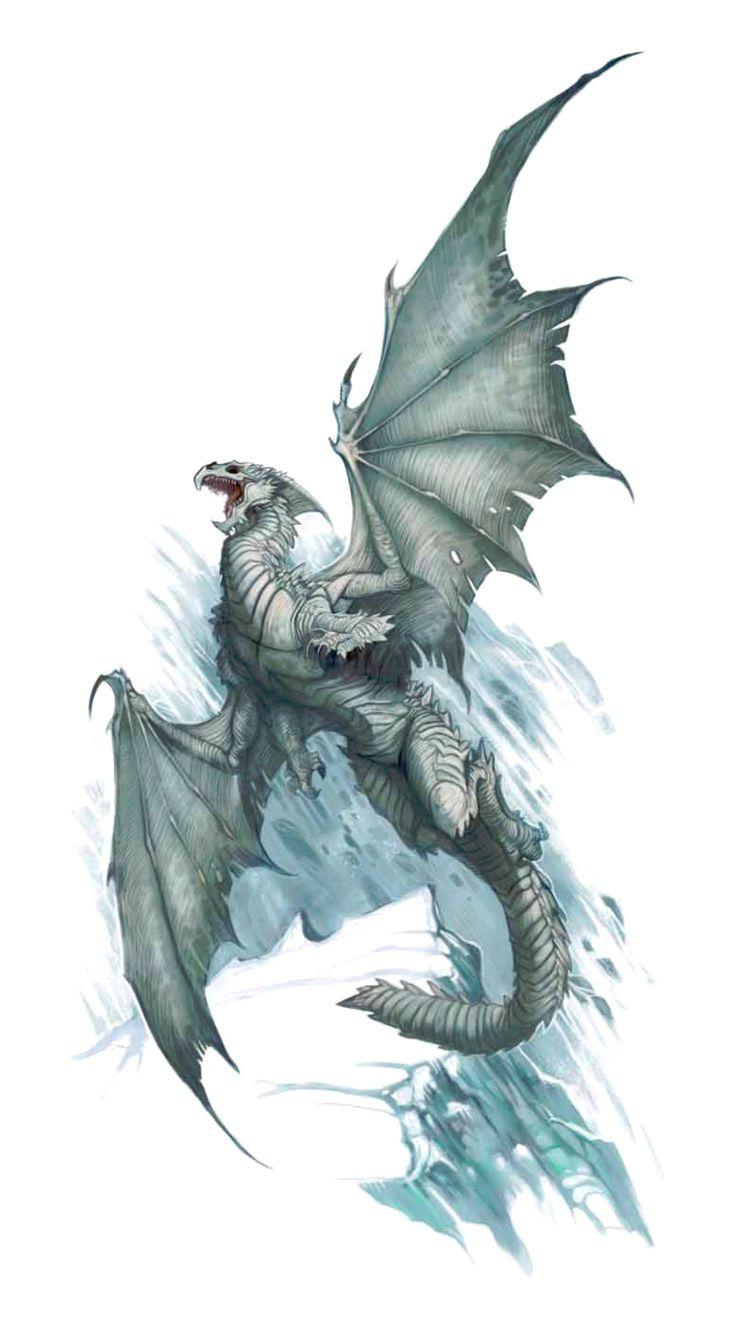 Dnd White Dragon: Pathfinder PFRPG DND D&D 3.5