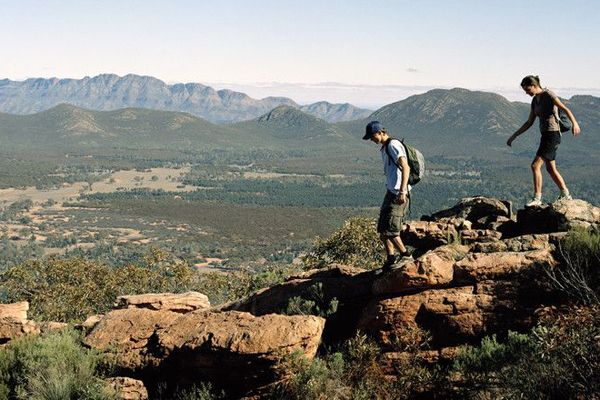 hiking, Flinders Ranges National Park, South Australia It is the largest mountain range in South Australia