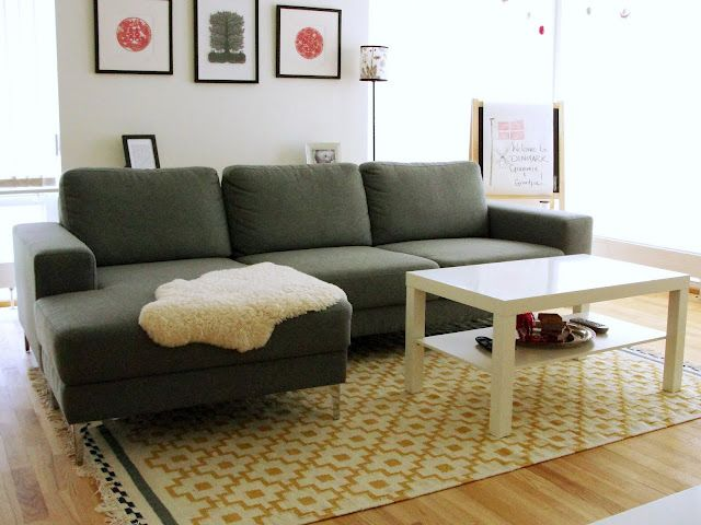 Our alvine ruta rug will fit well with our grey freedom for Ikea living room rugs
