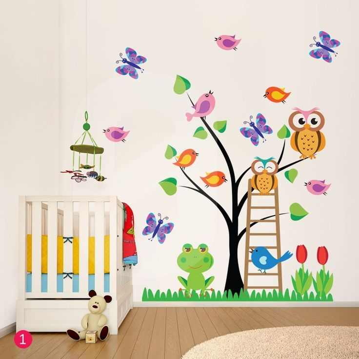 Αυτοκόλλητο τοίχου OWLS TREE - Sticky