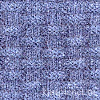 Узор спицами Плетенка № 2 - Узор Плетенка №2, как связать узор спицами и схема вязания узора
