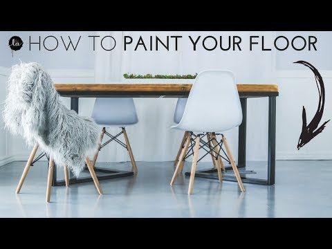 DIY Painted Floor | IDEA | Laminate Floor Painted to LOOK ...