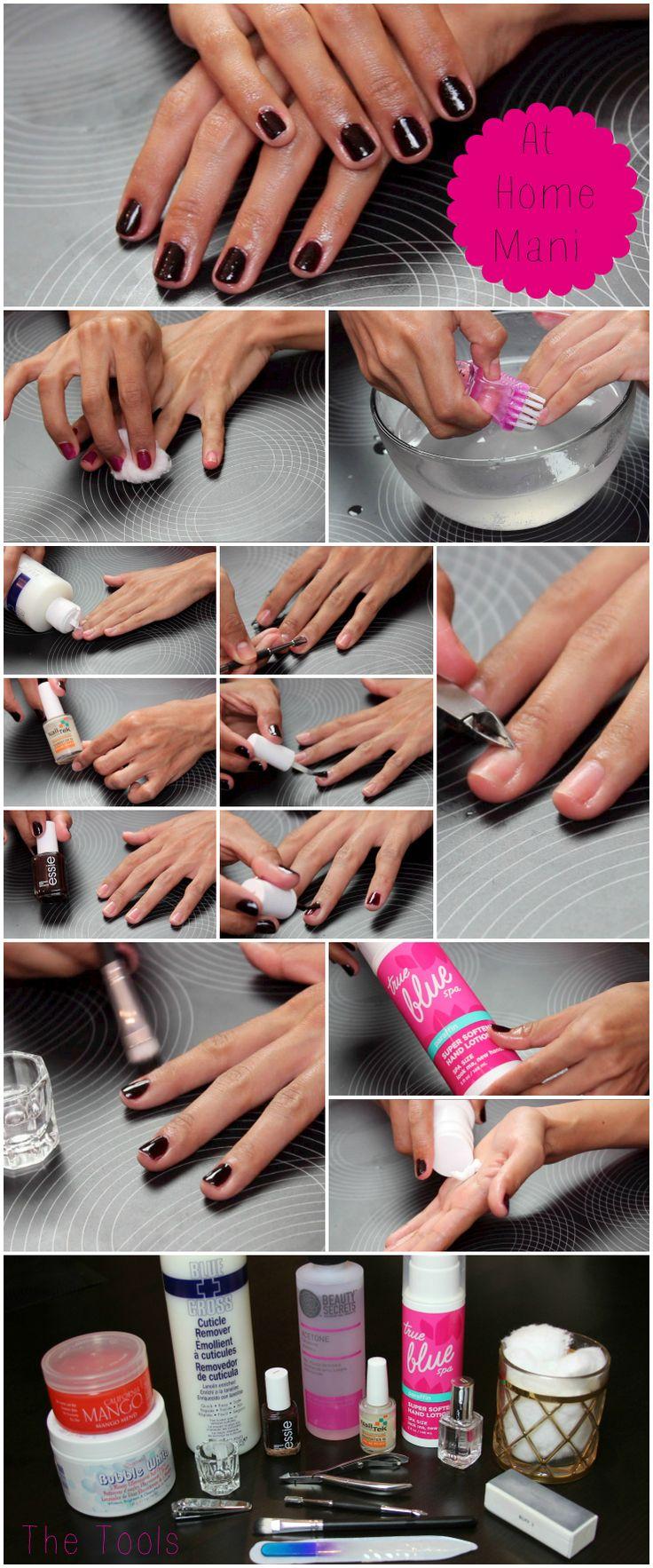 DIY zu Hause Maniküre Nagelpflege Routine dulcecandy.com / … – nail it