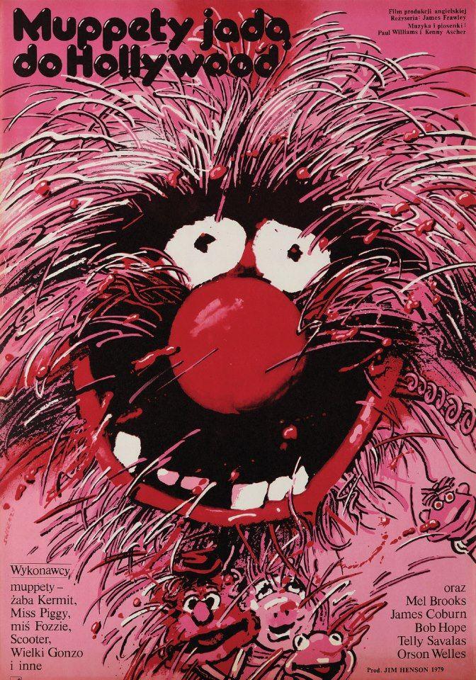 """Waldemar Świerzy, Plakat do filmu """"Muppety jadą do Hollywood""""."""