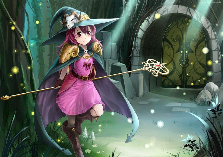 Dziewczyna, Czarodziejka, Anime