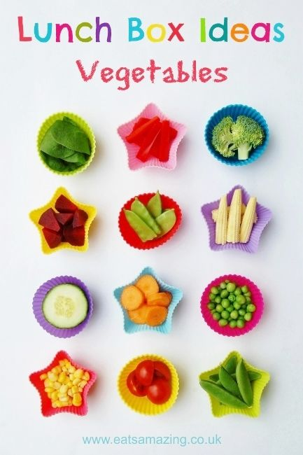 12 ideas for different vegetables to include in your lunch box