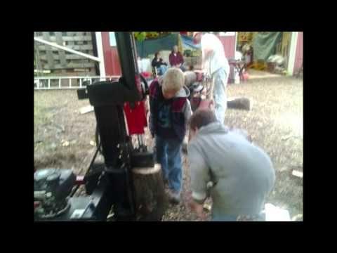 Chopping wood for Bishop Yates  Loudonville, OH. Ashland Branch. Akron Stake.